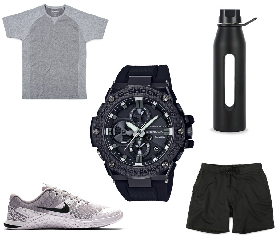 What to wear with the G-SHOCK G-STEEL GSTB100X-1A timepiece at the gym