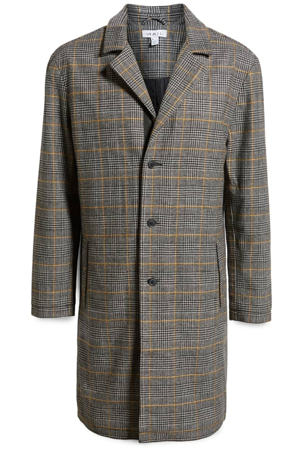 The Rail Houndstooth Overcoat