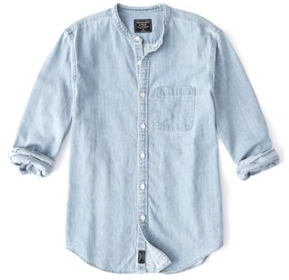 Abercrombie & Fitch Band Collar Denim Shirt