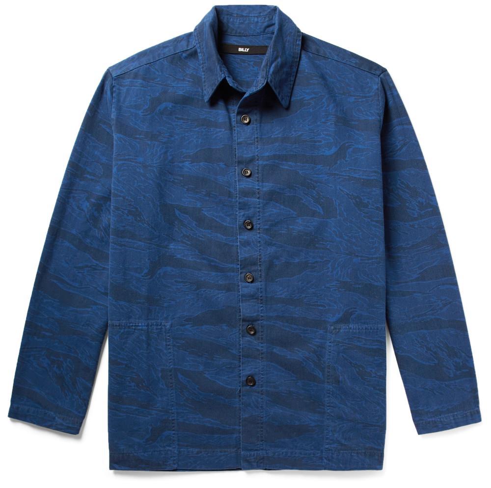 BILLY Printed Denim Shirt Jacket