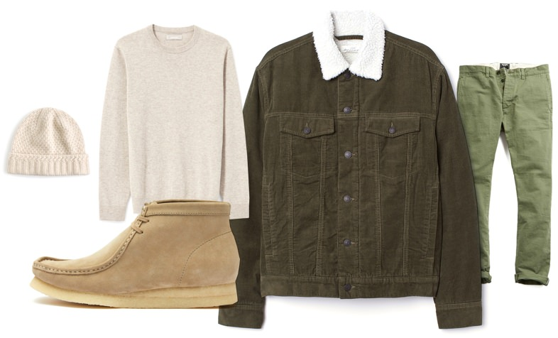 Men's fall tonal and textured outfit