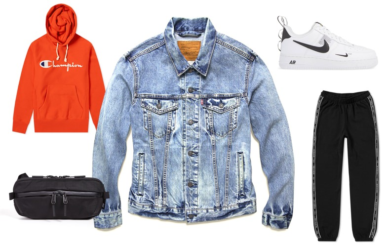 Men's fall weekend off-duty outfit