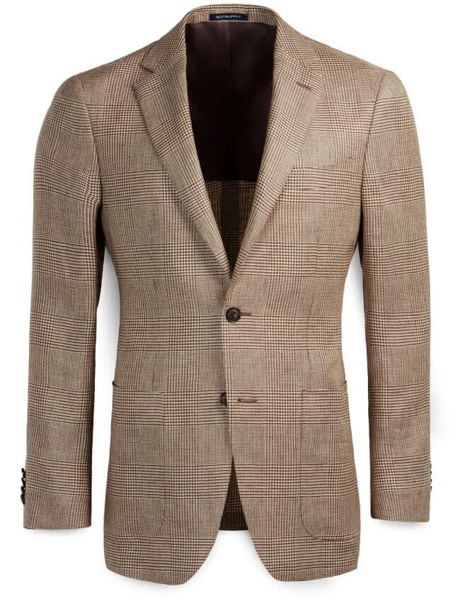 Suitsupply Linen Check Havana Jacket