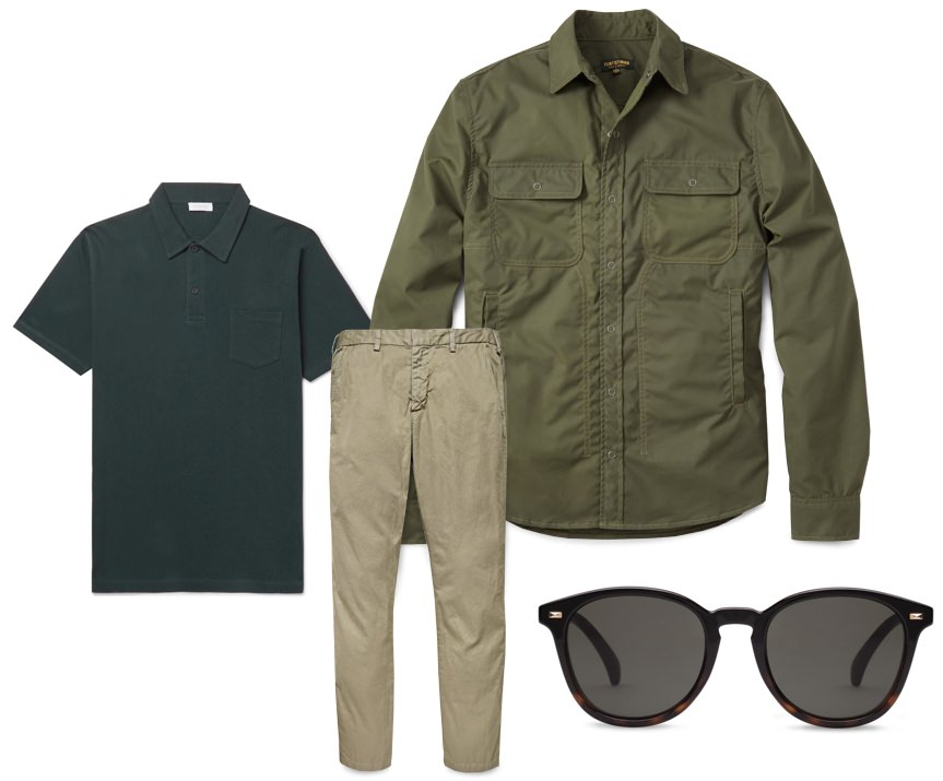 Military inspired men's outfit inspiration
