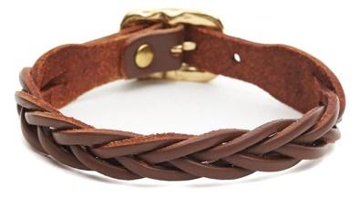 Il Bisonte Braided Leather Bracelet
