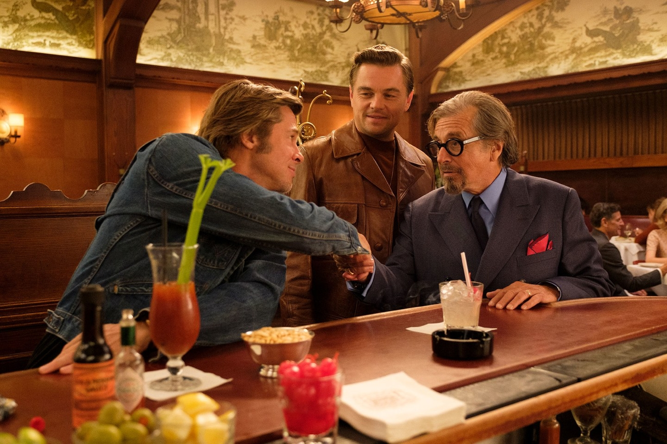 Leonardo DiCaprio and Bradd Pitt in Quentin Tarantino's Once Upon a Time in Hollywood movie