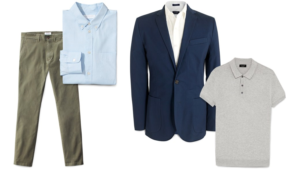 Creative or casual office men's interview outfit