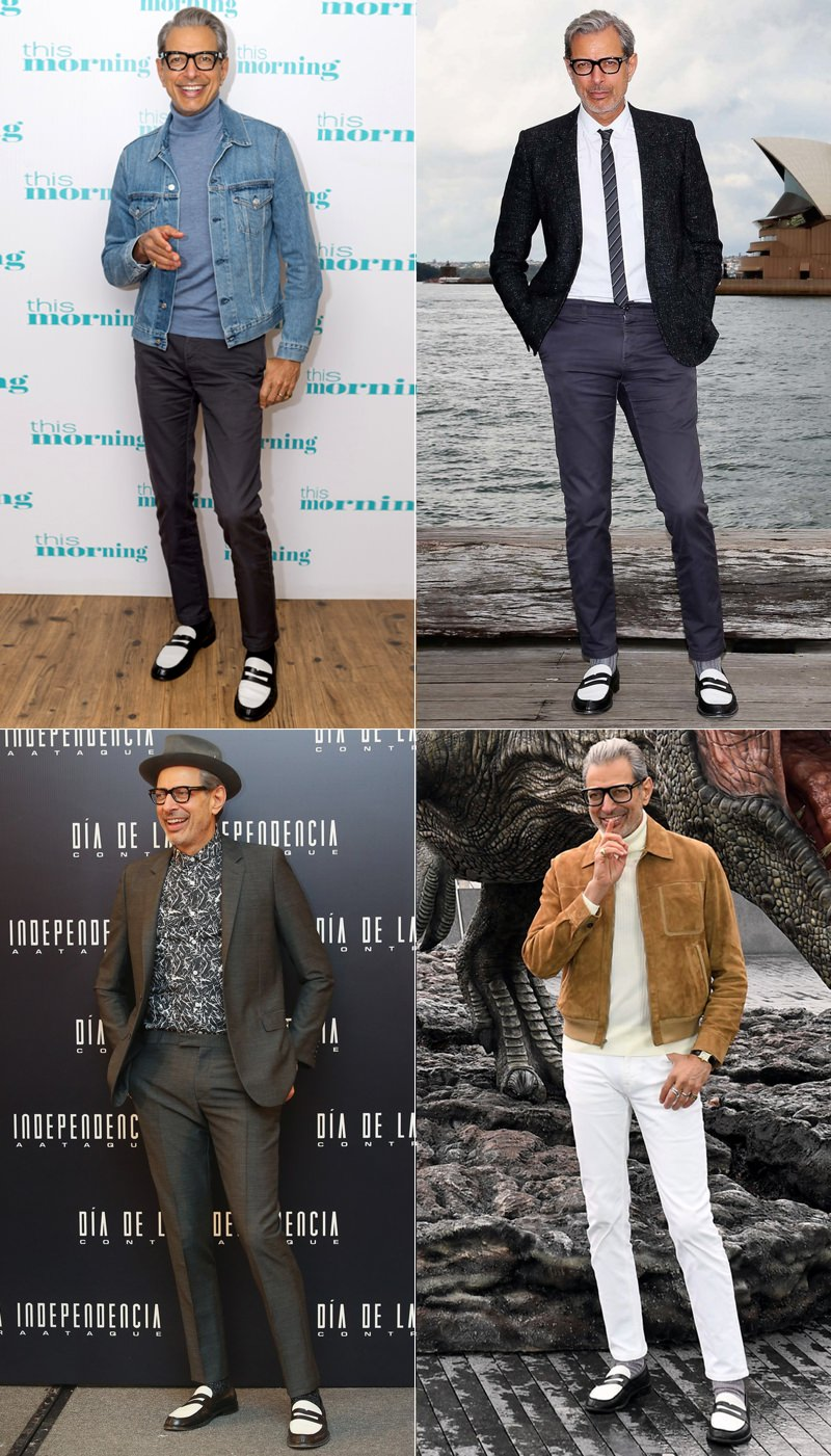 Jeff Goldblum embracing a signature piece