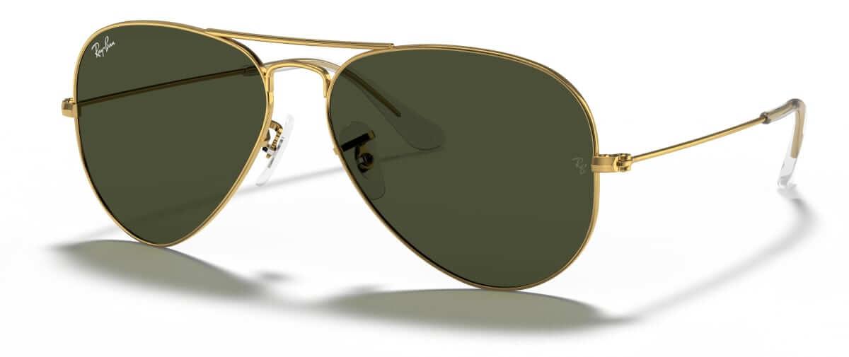 Classic men's ray-ban aviator sunglasses
