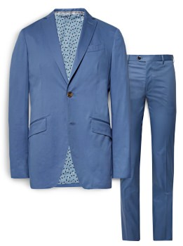 Etro Stretch Cotton Suit Jacket