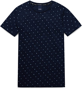 Scotch & Soda Indigo Pattern T-Shirt
