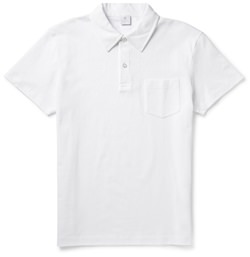 Sunspel Cotton Mesh Polo