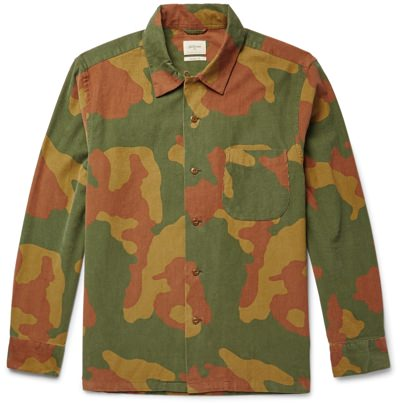 Bellerose Corduroy Camo Shirt Jacket