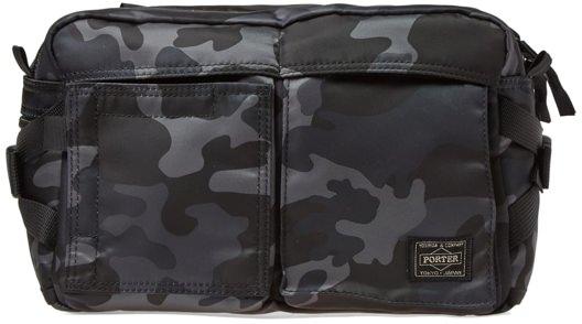 Head Porter Black Camo Waist Bag