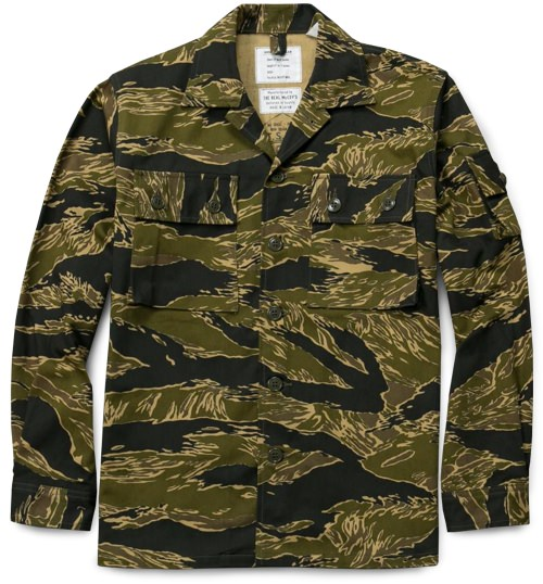 The Real McCoys Tigerstrip Camo Fatigue Jacket
