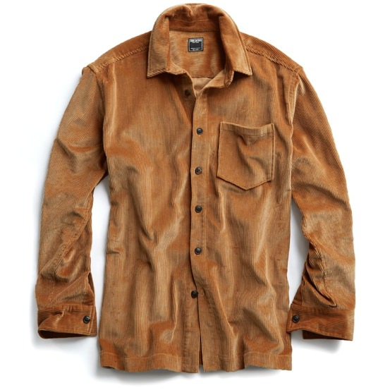 Todd Snyder Caramel Corduroy Shirt Jacket