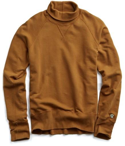 Todd Snyder + Champion Caramel Turtleneck Sweatshirt