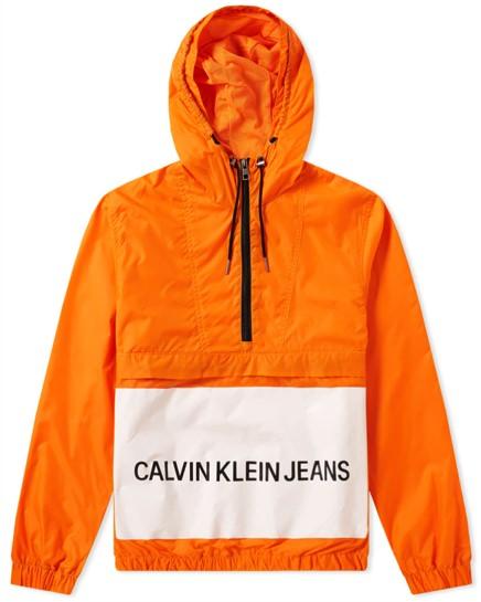 Calvin Klein Jeans Logo Popover Windbreaker