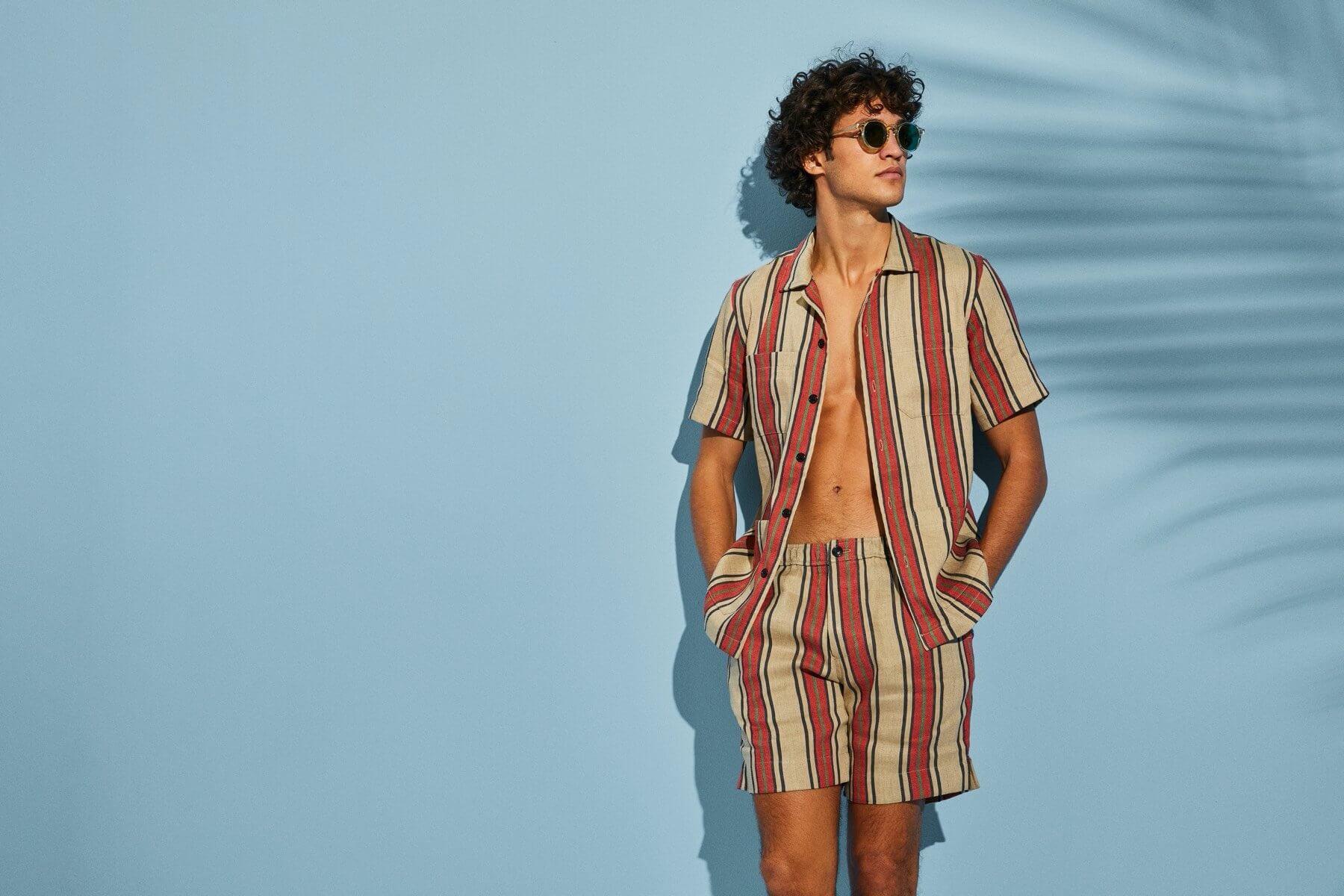 Todd Snyder Linen Cotton Bahama Shirt and Shorts