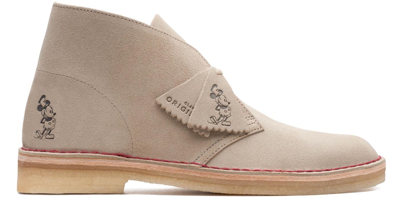 Clarks Embossed Suede Desert Boots