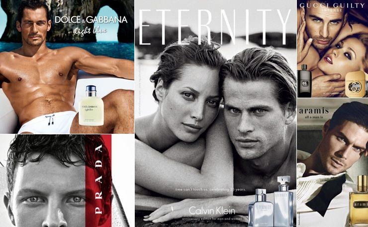 Archival men's fragrance ads