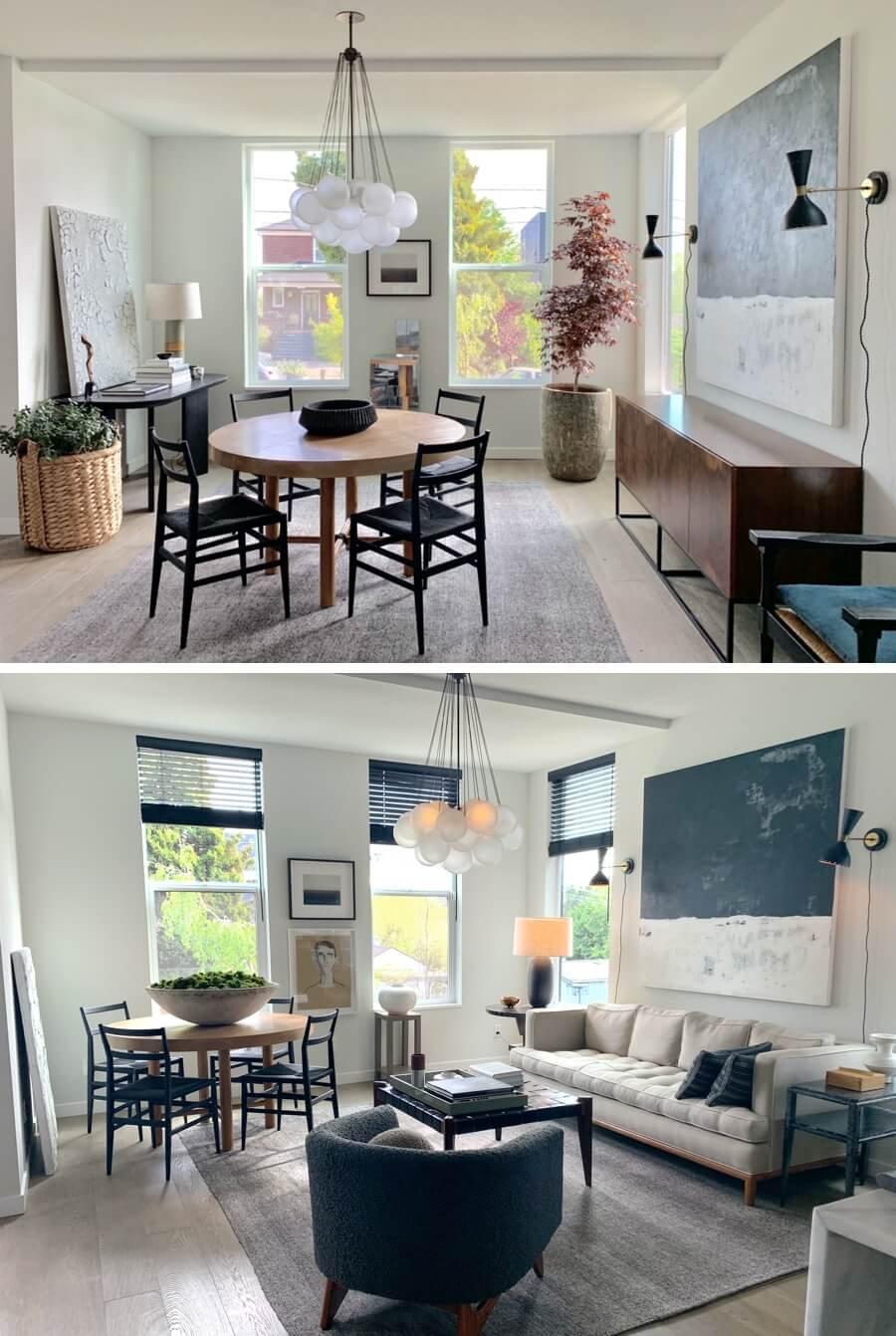 Interior designer Brian Paquette's transformed sitting room in Seattle, Washington