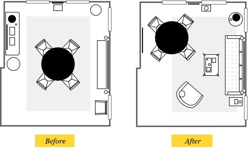 Interior designer Brian Paquette's dining room reconfiguration